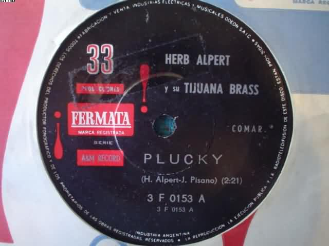 Herb Alpert Plucky-La Cancion Del Trabajo 7''
