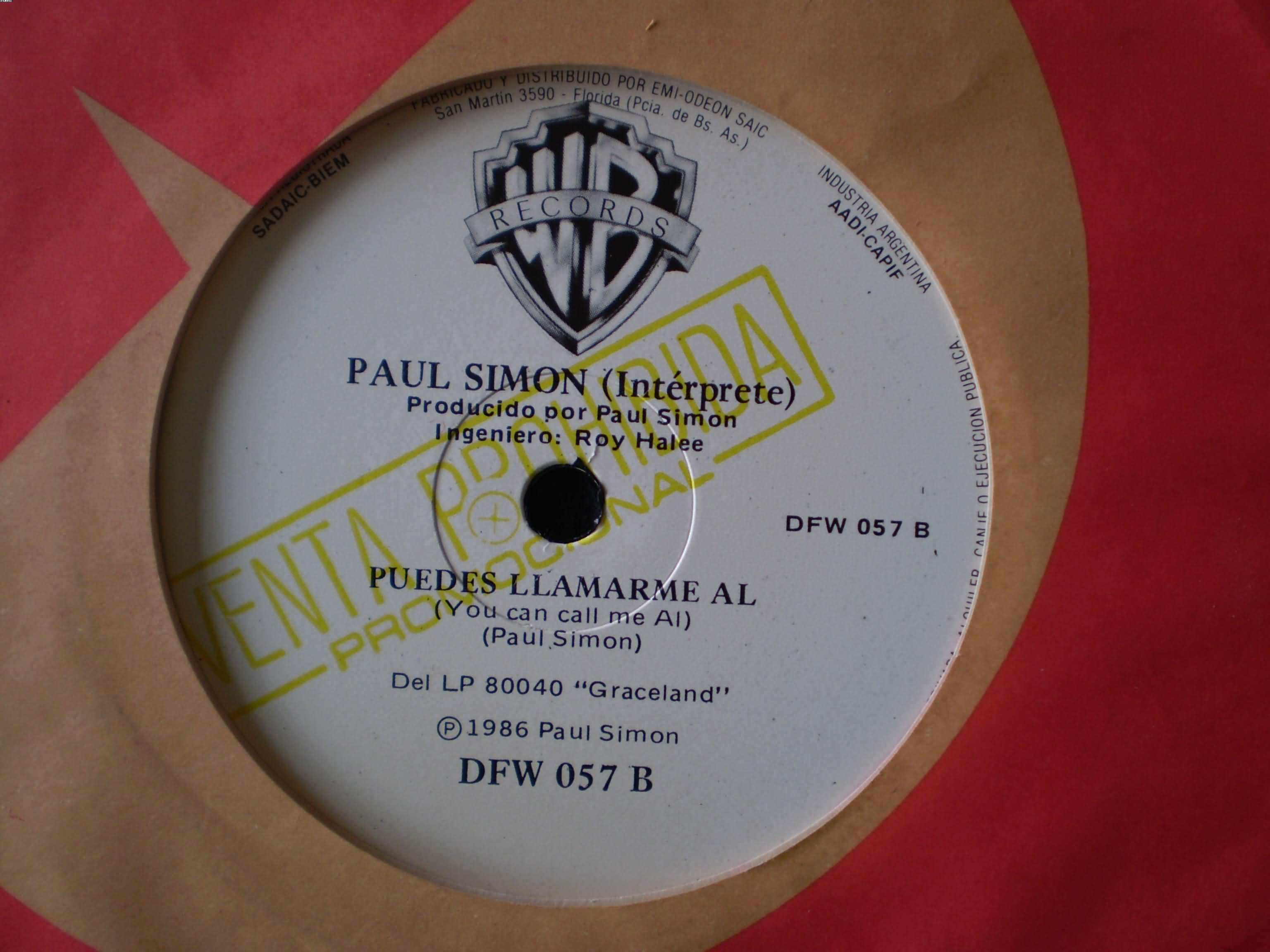 PAUL SIMON - You Can Call Me Al Album