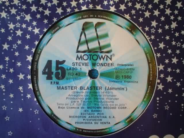 STEVIE WONDER - Master Blaster-master Blaster
