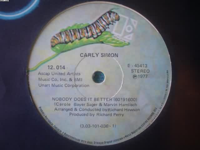 SIMON, CARLY - Nobody Does It Better 3:30/after The Storm 2:46