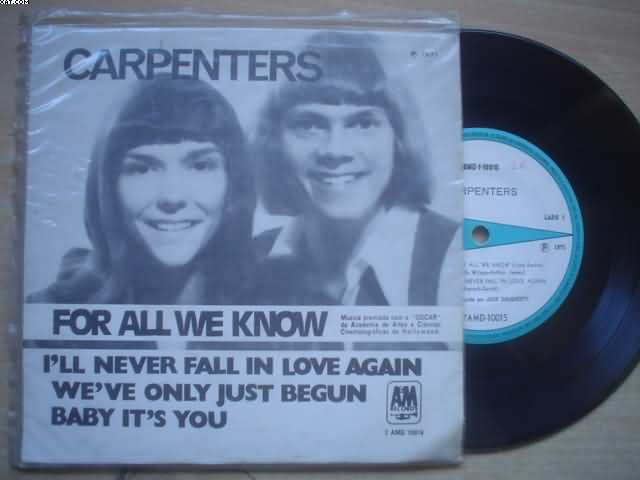 CARPENTERS - For All We Know +3